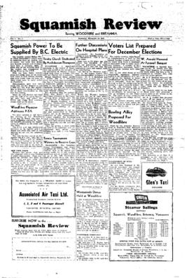 Squamish Review: Thursday, November 12, 1948