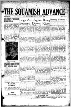 Squamish Advance: Thursday, July 13, 1950