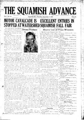 Squamish Advance: Thursday, September 7, 1950