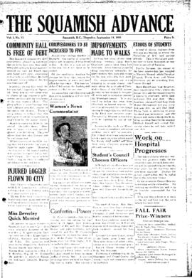 Squamish Advance: Thursday, September 14, 1950
