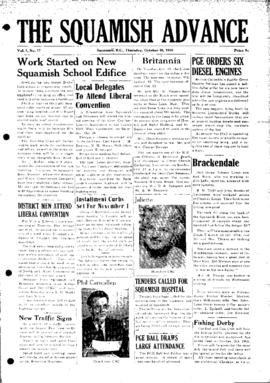 Squamish Advance: Thursday, October 26, 1950