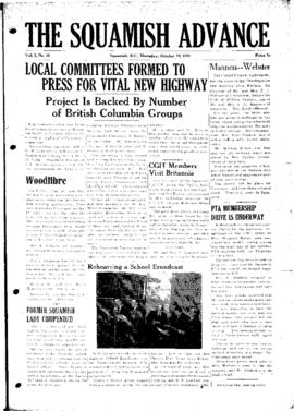 Squamish Advance: Thursday, October 19, 1950