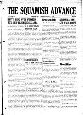 Squamish Advance: Thursday, October 12, 1950