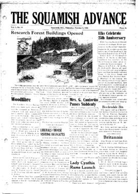 Squamish Advance: Thursday, October 5, 1950