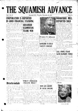 Squamish Advance: Thursday, November 30, 1950