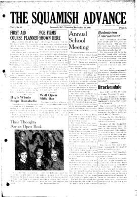 Squamish Advance: Thursday, November 23, 1950