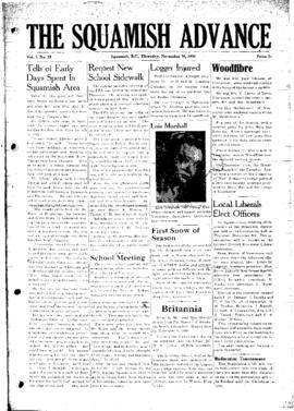 Squamish Advance: Thursday, November 16, 1950