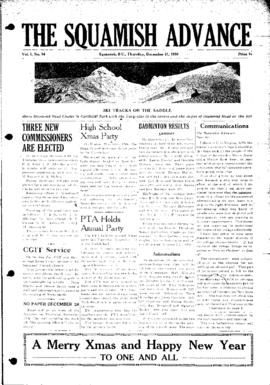 Squamish Advance: Thursday, December 21, 1950