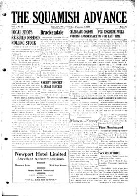 Squamish Advance: Thursday, December 7, 1950