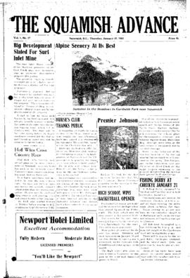 Squamish Advance: Thursday, January 18, 1951