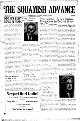 Squamish Advance: Thursday, January 11, 1951