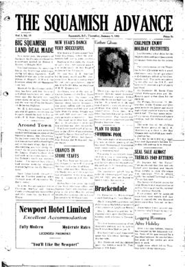 Squamish Advance: Thursday, January 4, 1951