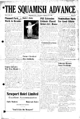 Squamish Advance: Thursday, February 22, 1951