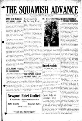 Squamish Advance: Thursday, March 22, 1951