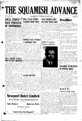Squamish Advance: Thursday, March 8, 1951