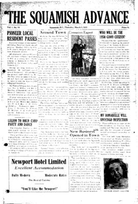 Squamish Advance: Thursday, March 1, 1951
