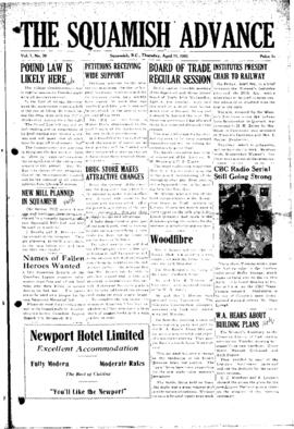 Squamish Advance: Thursday, April 12, 1951