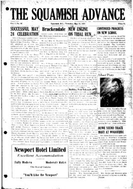 Squamish Advance: Thursday, May 31, 1951