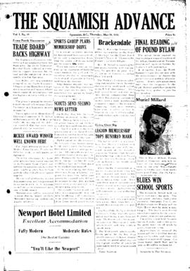 Squamish Advance: Thursday, May 24, 1951