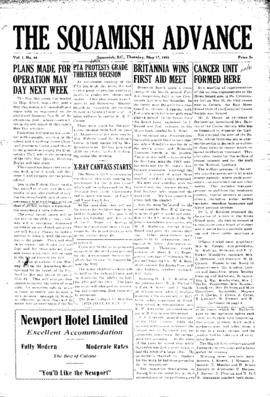 Squamish Advance: Thursday, May 17, 1951