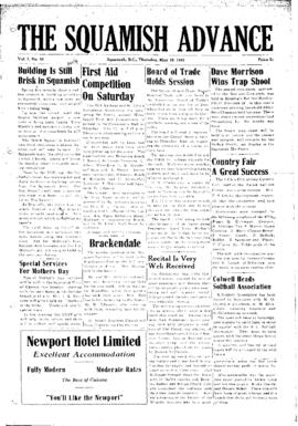 Squamish Advance: Thursday, May 10, 1951