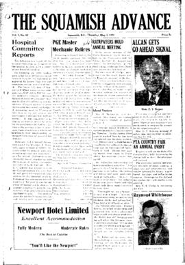 Squamish Advance: Thursday, May 3, 1951