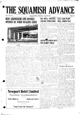 Squamish Advance: Thursday, June 28, 1951