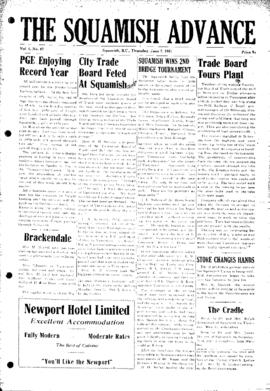 Squamish Advance: Thursday, June 7, 1951