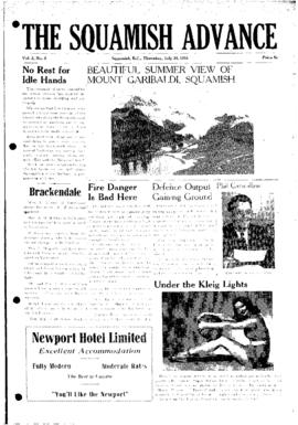 Squamish Advance: Thursday, July 26, 1951