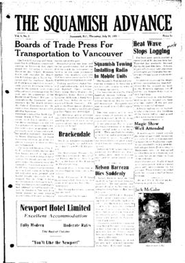 Squamish Advance: Thursday, July 19, 1951