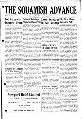 Squamish Advance: Thursday, August 23, 1951