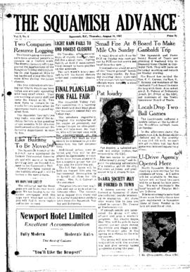 Squamish Advance: Thursday, August 16, 1951