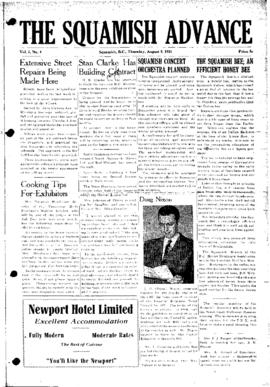 Squamish Advance: Thursday, August 9, 1951