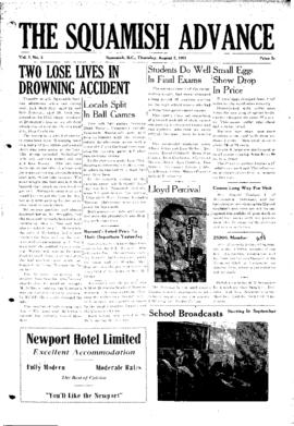 Squamish Advance: Thursday, August 2, 1951
