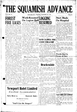 Squamish Advance: Thursday, September 27, 1951