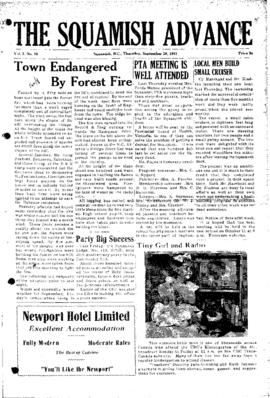 Squamish Advance: Thursday, September 20, 1951