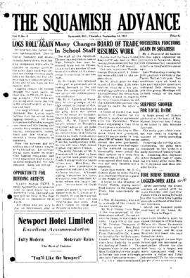 Squamish Advance: Thursday, September 13, 1951