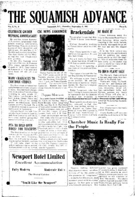 Squamish Advance: Thursday, September 6, 1951