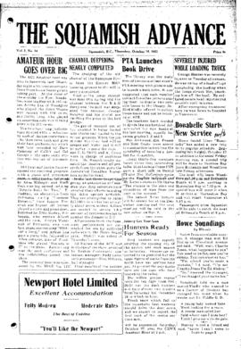 Squamish Advance: Thursday, October 18, 1951