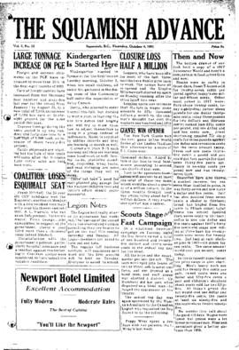 Squamish Advance: Thursday, October 4, 1951