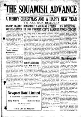 Squamish Advance: Thursday, December 20, 1951