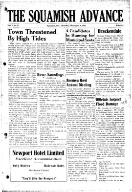 Squamish Advance: Thursday, December 6, 1951