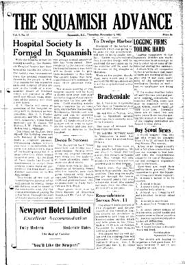 Squamish Advance: Thursday, November 8, 1951
