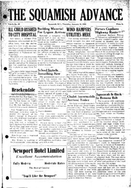 Squamish Advance: Thursday, January 10, 1952
