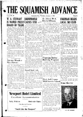 Squamish Advance: Thursday, January 17, 1952