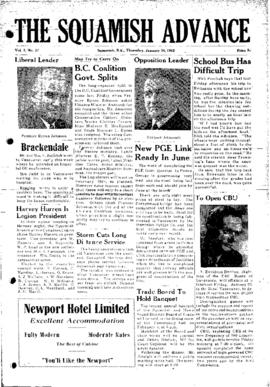 Squamish Advance: Thursday, January 24, 1952
