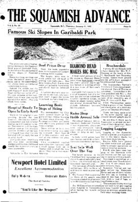 Squamish Advance: Thursday, January 31, 1952