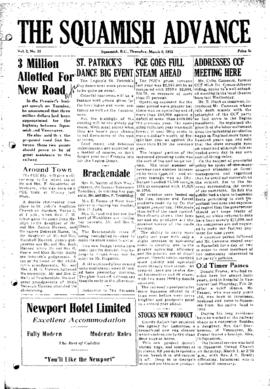 Squamish Advance: Thursday, March 6, 1952