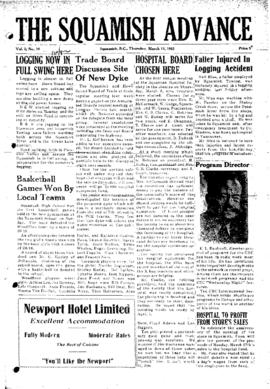 Squamish Advance: Thursday, March 13, 1952