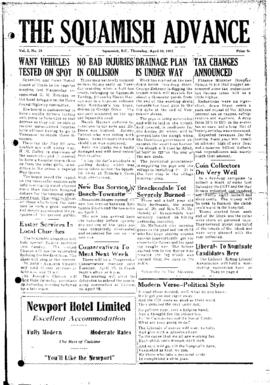 Squamish Advance: Thursday, April 10, 1952